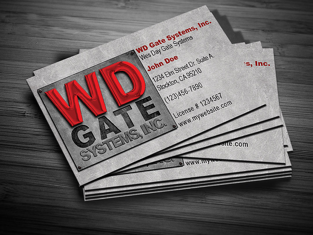 WD Gate Systems  Business Card